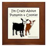 I'm Crazy About Pumpkin And Cookie Framed Tile