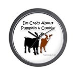 I'm Crazy About Pumpkin And Cookie Wall Clock