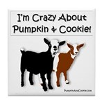 I'm Crazy About Pumpkin And Cookie Tile Coaste