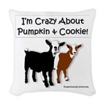 I'm Crazy About Pumpkin And Woven Throw Pillow