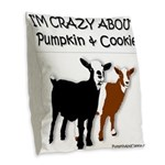 I'm Crazy About Pumpkin And Burlap Throw Pillo