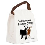 I'm Crazy About Pumpkin And Canvas Lunch Bag