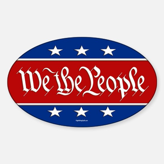 We The People Sticker (Oval)