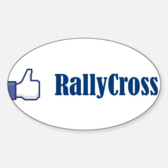 Cute Rally Sticker (Oval)