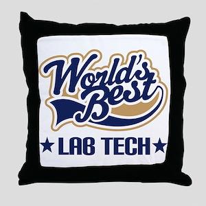 Worlds Best Lab Tech Throw Pillow