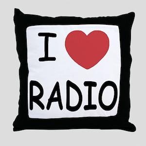 I love radio Throw Pillow