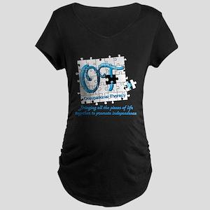 ot puzzle aqua Maternity T-Shirt