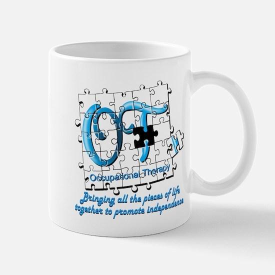 ot puzzle aqua Mugs