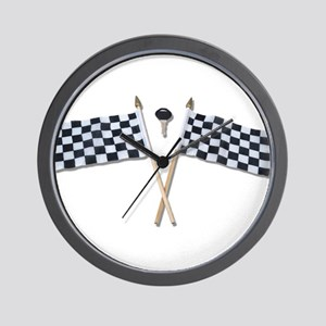 Crossing The Finish Line Wall Clock