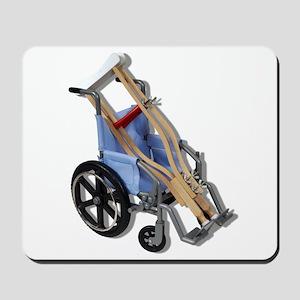 Crutches Wheelchair Mousepad