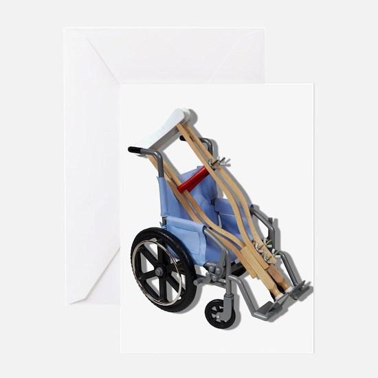 Crutches Wheelchair Greeting Card