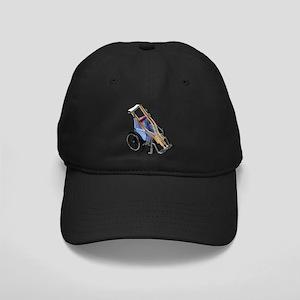 Crutches Wheelchair Black Cap
