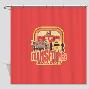 Transformers Retro Roll Out Shower Curtain