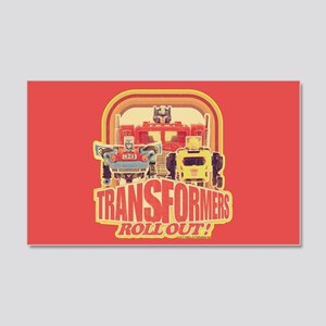 Transformers Retro Roll Out 20x12 Wall Decal
