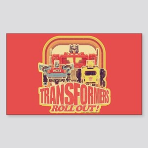 Transformers Retro Roll Out Sticker (Rectangle)