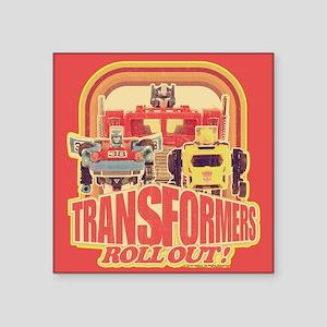 "Transformers Retro Roll Out Square Sticker 3"" x 3"""