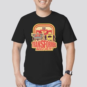 Transformers Retro Rol Men's Fitted T-Shirt (dark)