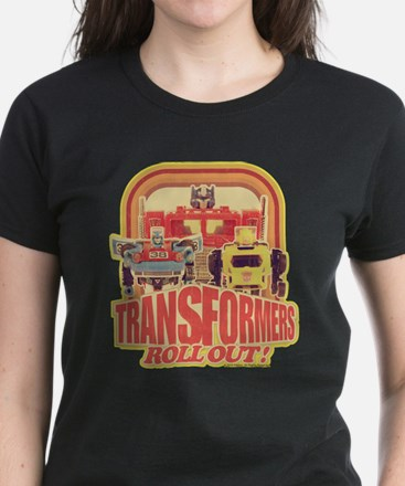 Transformers Retro Roll Out Women's Dark T-Shirt