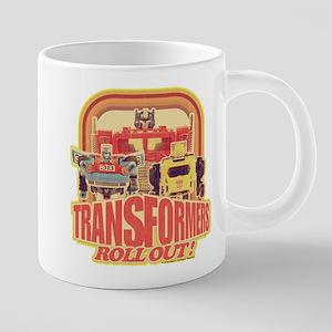 Transformers Retro Roll Out 20 oz Ceramic Mega Mug