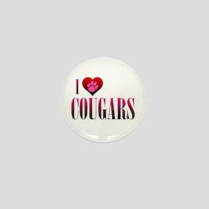 I Heart Cougars Mini Button
