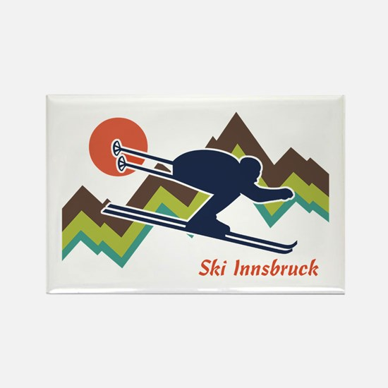 Ski Innsbruck Rectangle Magnet