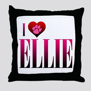 I Heart Ellie Throw Pillow