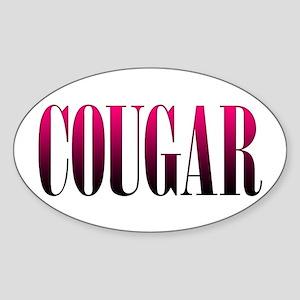 Cougar Sticker (Oval)