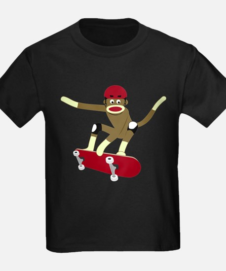 Sock Monkey Skateboarder T