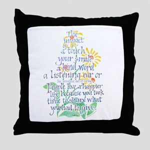 Impact of a Touch Throw Pillow