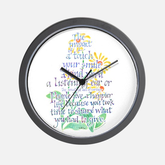 Impact of a Touch Wall Clock