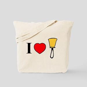 I Heart Bells Tote Bag