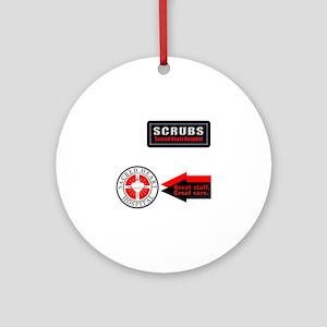 Scrubs Sacred Heart Ornament (Round)