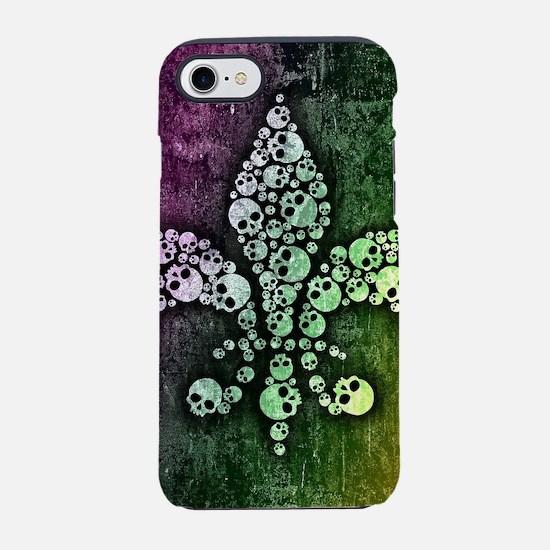 Skull Fleur De Lis iPhone 7 Tough Case