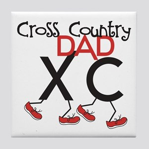 Cross Country Dad Tile Coaster