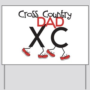 Cross Country Dad Yard Sign