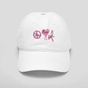 Peace Love Cure (Pink Ribbon) Cap