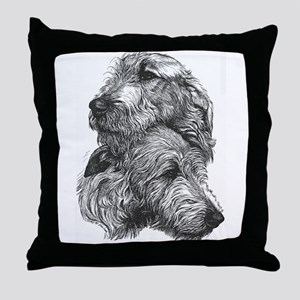 Irish Wolfhound Pair Throw Pillow