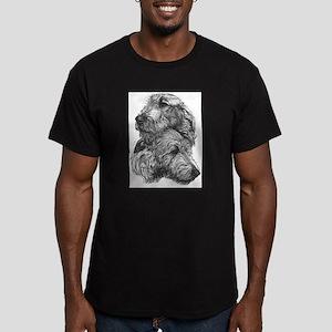 Irish Wolfhound Pair Men's Fitted T-Shirt (dark)