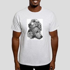 Irish Wolfhound Pair Light T-Shirt