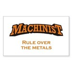 Machinist / Metals Sticker (Rectangle)