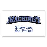 Machinist / Print Sticker (Rectangle 50 pk)
