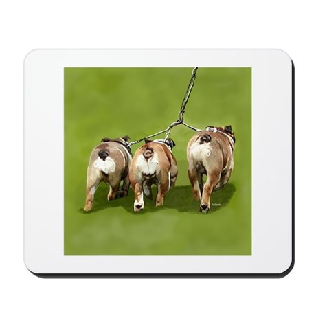 Bull Dogs Butts Mousepad