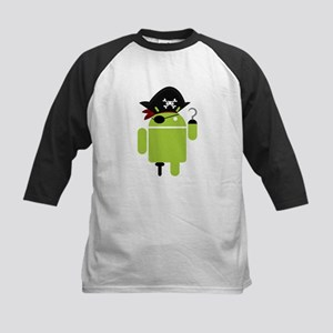 Android Pirate Kids Baseball Jersey