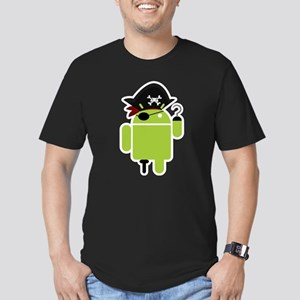 Android Pirate Men's Fitted T-Shirt (dark)