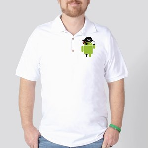 Android Pirate Golf Shirt
