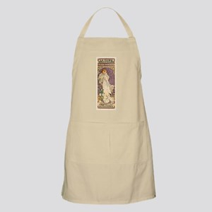 Vintage French Art Nouveau Lady of the Light Apron