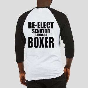 Re-Elect Senator Boxer Baseball Jersey