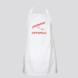 Exercise is not Optional (red Apron