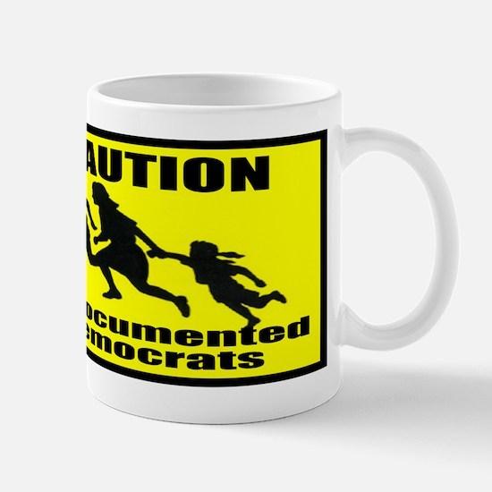 Caution Undocumented Democrat Mug