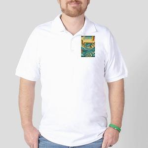 Hiroshige Navaro Rapids Golf Shirt